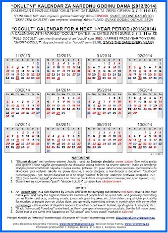 Satanic Calendar 2014 | New Calendar Template Site